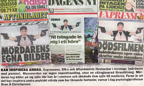 SwedenNewspapersVTechMassacre